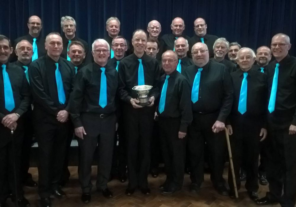Ocean Harmony with the Fareham Music Festival trophy.